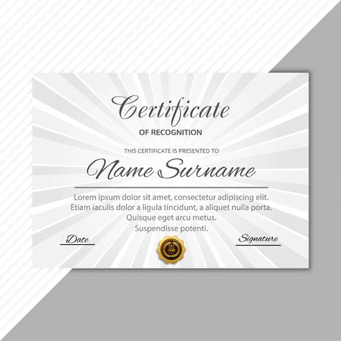 Abstract certificate background template design