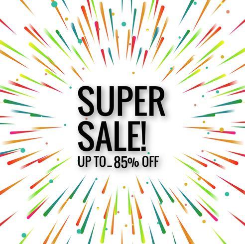 Moderne super verkoop kleurrijke achtergrond vector