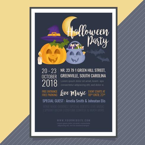 Vector Halloween-feestaffiche