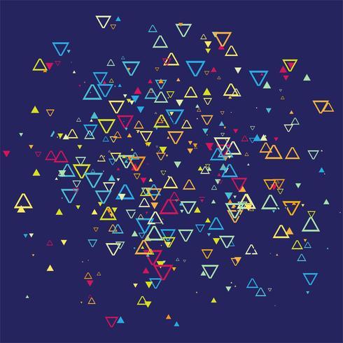 Vetor de fundo abstrato colroful triangels