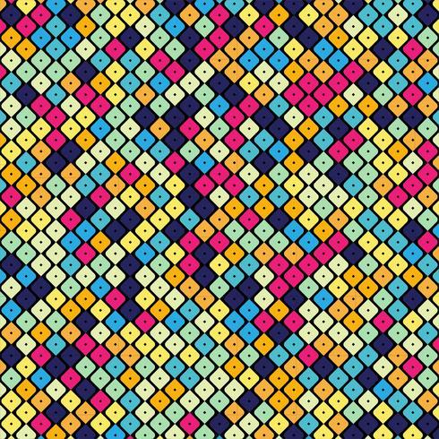 Elegant färgstark mönsterdesign