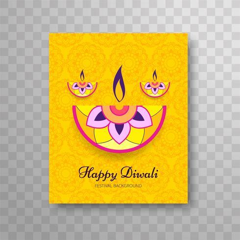 Het moderne mooie kleurrijke ontwerp van de diwali moderne brochure