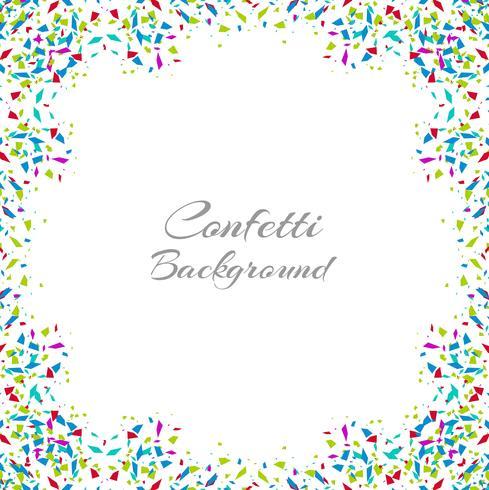 Abstrakt färgstark konfetti ram isolerad på vit bakgrund