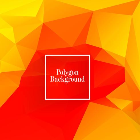 Polygon colorful background vector