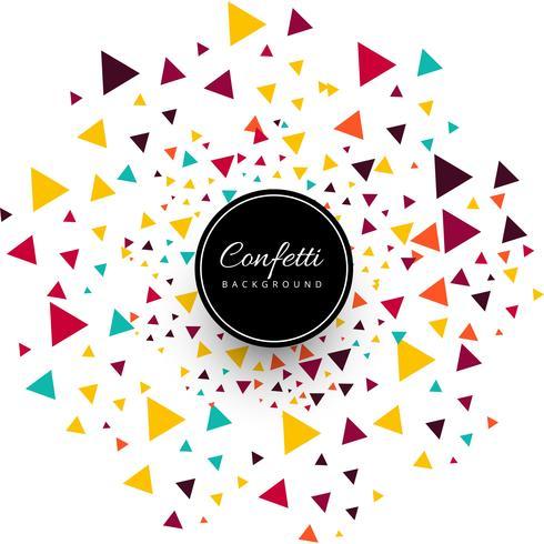 Mooie kleurrijke confettien achtergrond vector