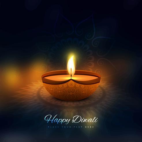 Modern mooi kleurrijk diwali helder ontwerp