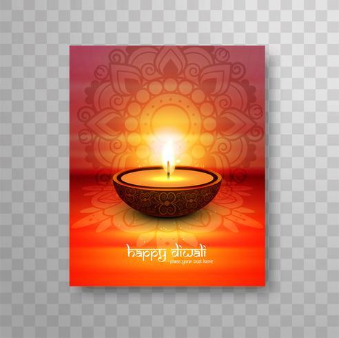 Moderne kleurrijke diwali brochure achtergrond