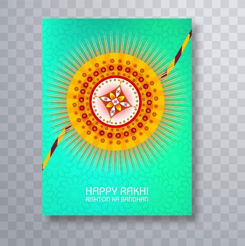 Raksha Bandhan bunte Broschüre Kartenvorlage Design