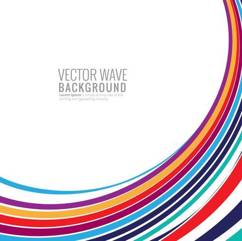 Elegante kleurrijke lijngolfillustratie als achtergrond