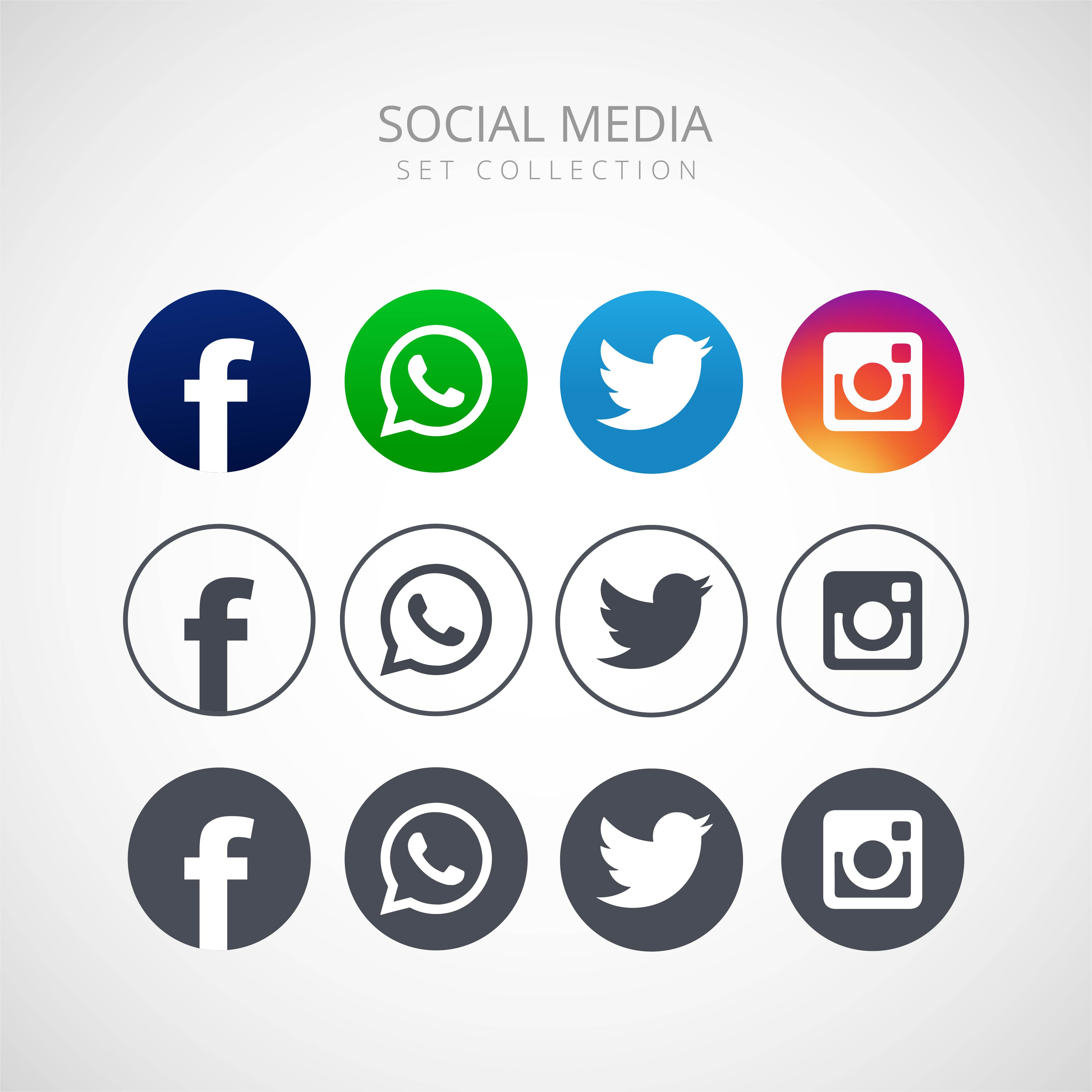 icons for social networking vector illustration design