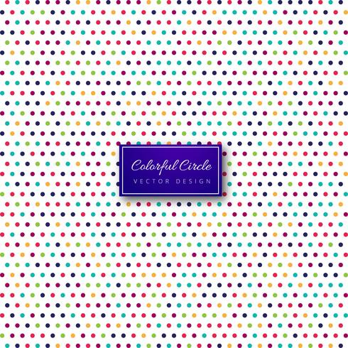 Abstract colorful dots pattern illustration design