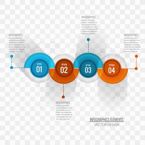 Moderne infographic achtergrond vector