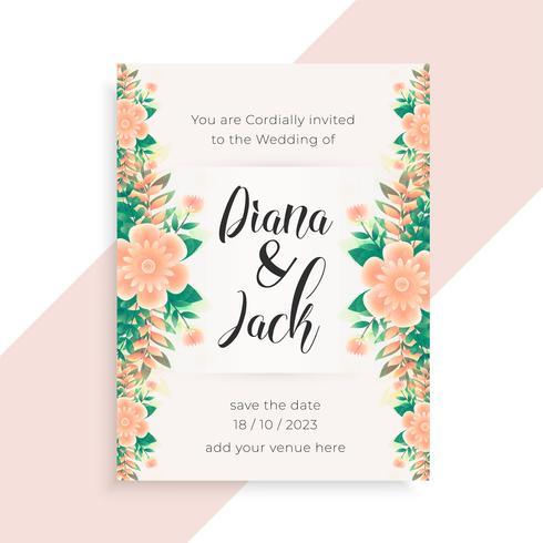 conception de cartes d'invitation mariage concept fleur