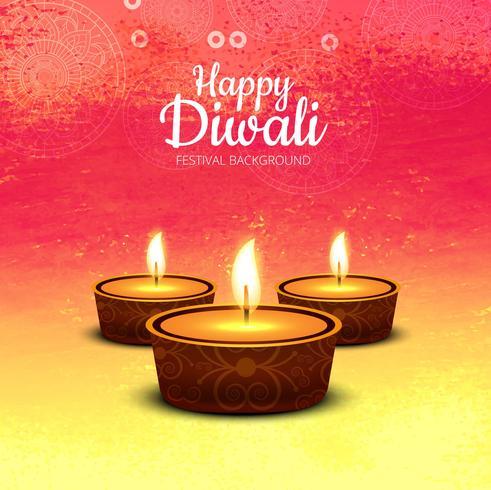 Abstracte glanzende mooie diwali achtergrond