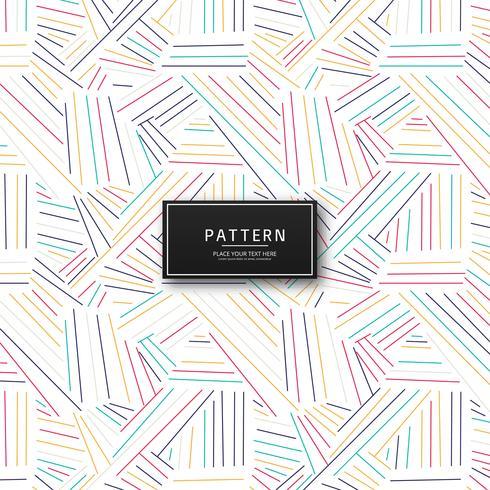 Líneas geométricas abstractas coloridas diseño de patrón