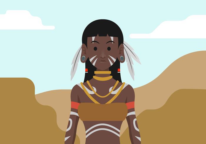 Indigenous People Vector Illustration