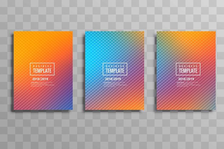Modelo de design de brochura de negócios colorido moderno cenografia