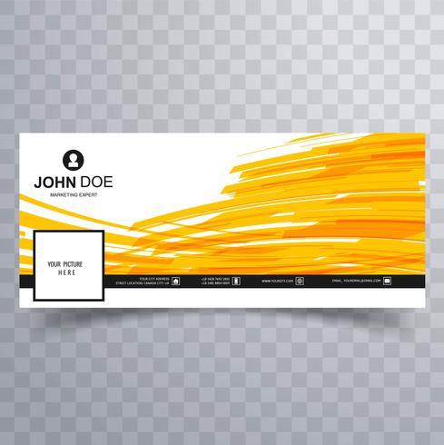 Abstrakt facebook tidslinje banner mall design