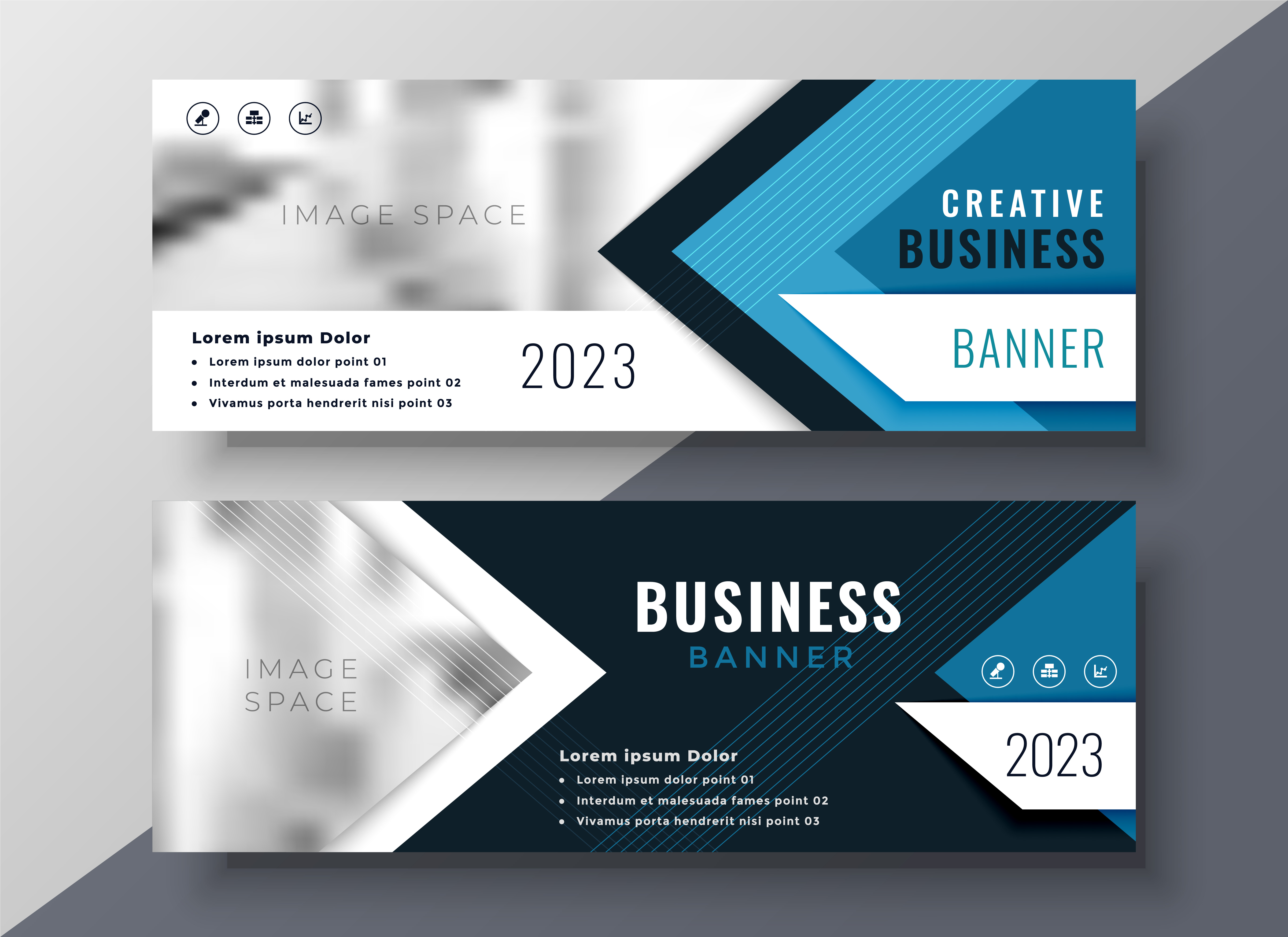 Banner: Professional Business Banner In Geometric Style