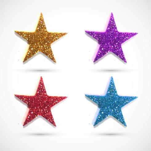 Modern glitter star designs