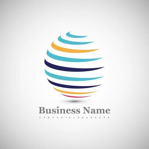 Fond de logo abstrait sphère colorée