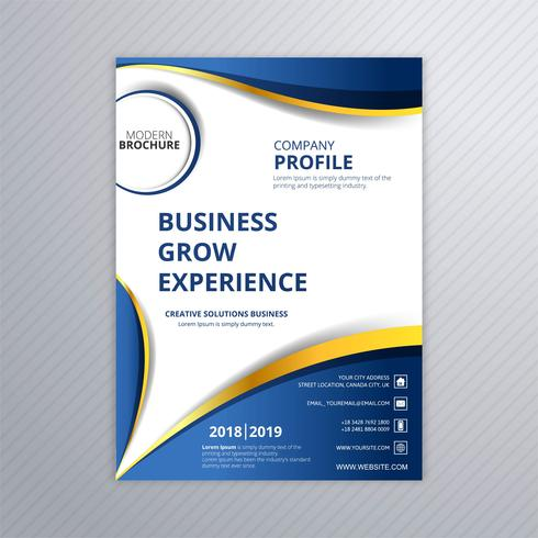 Modern business brochure creative template wave design