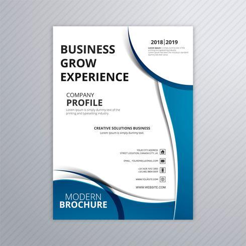 Conception de modèle de brochure abstrait bleu entreprise créative vecteur