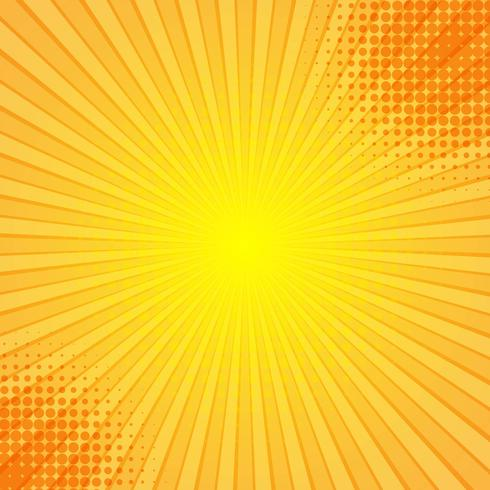 abstract comic rays background vector download free