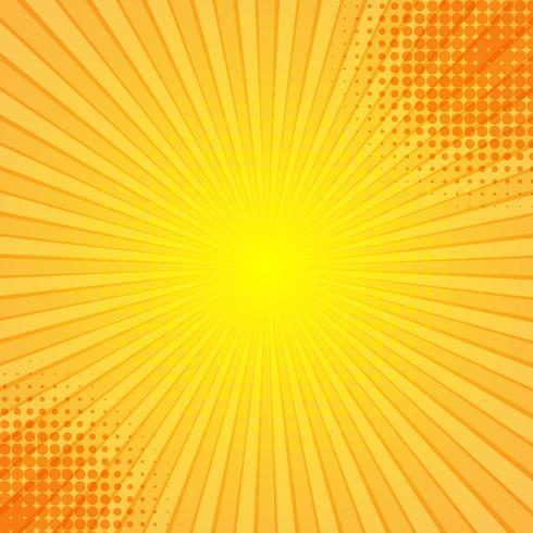 Vector de fondo de rayos cómicos abstractos