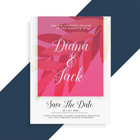 stijlvolle bruiloft uitnodiging kaart ontwerp