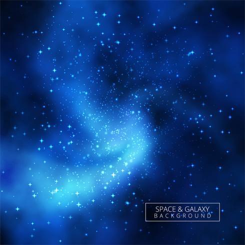 Universe shiny blue galaxy background illustration vector