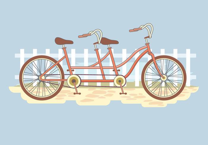 Summer Retro Tandem Bicycle