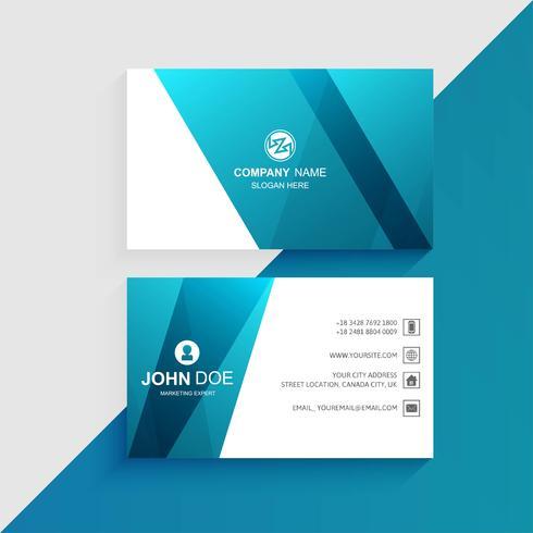 Het moderne blauwe creatieve ontwerp van het adreskaartjemalplaatje