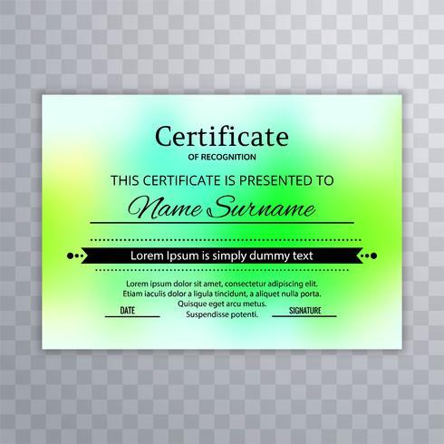 Vector de fondo elegante elegante plantilla de certificado