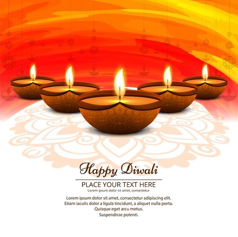 Hermoso fondo feliz diwali