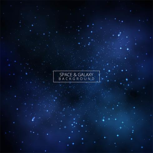 Galaxy space blue background vector