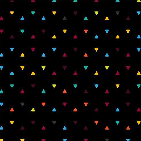 Illustrazione di sfondo nero triangoli colorati astratti