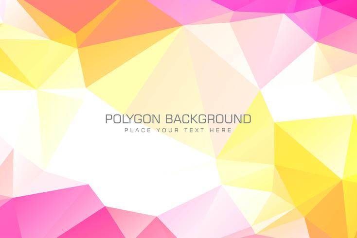 Ilustração de fundo colorido de polígono