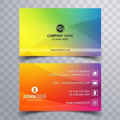 Creativo y limpio conjunto de plantillas de tarjeta de visita diseño colorido