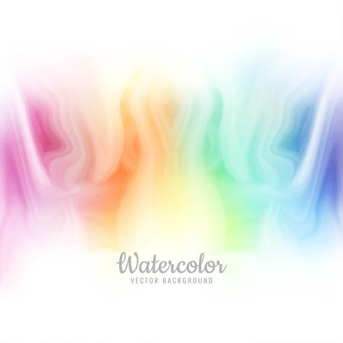 Beautiful colorful watercolor background vector