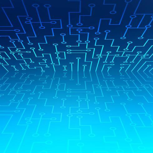 Fondo abstracto de conexión de puntos y líneas de tecnología