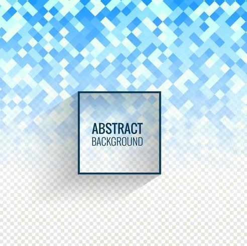 Abstrakt blå mosaik transparent bakgrund vektor