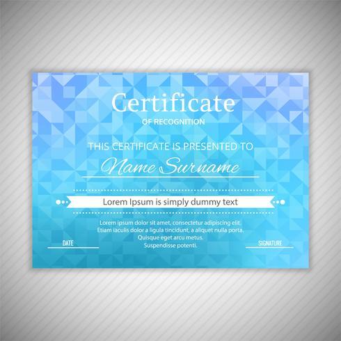 Progettazione geometrica del modello di certificato di apprezzamento vettore