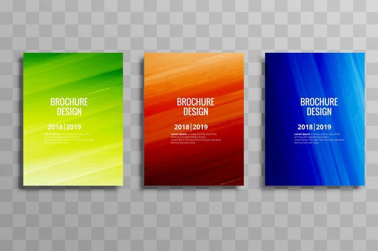 Abstrakt färgstark affärsmall set design