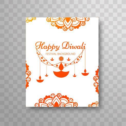 Design de folheto moderno lindo colorido diwali
