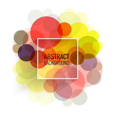 Illustrazione di sfondo astratto cerchi colorati