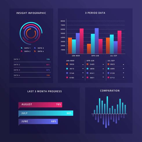 Diagram UI Kit Vector