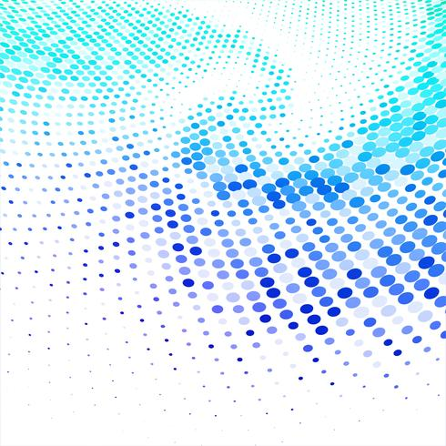 Abstract colorful circular halftone background vector