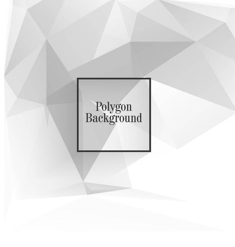 Bello disegno vettoriale poligono grigio