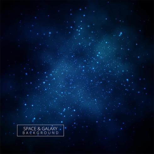Bellissimo universo di sfondo blu galassia
